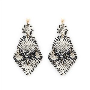 SnakeSkin print Geometric Drop Earrings